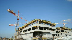 Constraction cranes 1 Stock Footage