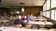 Kibbutz diningroom 2 - stock footage