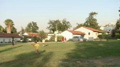 Kibbutz kids play 1 - stock footage