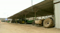 Kibbutz tractors 1 - stock footage