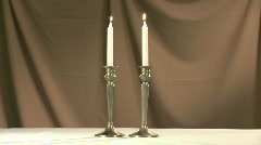 Shabat candles 1 Stock Footage