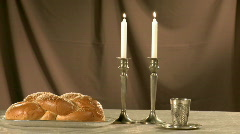 Shabat candles 3 Stock Footage