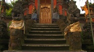 Stock Video Footage of Royal Palace Temple Gate, Ubud, Bali.