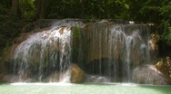 Stock Video Footage of Erawan Waterfall, Kanchanaburi, Thailand