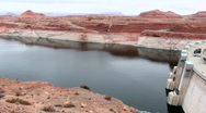 Stock Video Footage of Glen Canyon Dam Overview