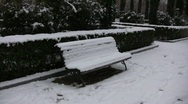 Snowed Park Bench Stock Footage