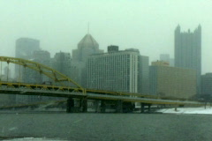 Snowy Pittsburgh 470 Stock Footage