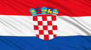 Croatian flag, with real structure of a fabric Stock Footage