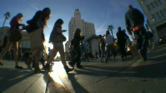People Crossing the Street 3 - stock footage
