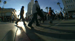 People Crossing the Street 2 Stock Footage