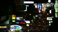 Young Tourists Walk People Guesthouse Hotel Bar Khao San Road Bangkok Thailand Stock Footage