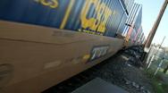 Railroad cargo, piggyback Stock Footage