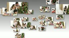 Family Enjoying Christmas Stock Footage