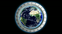 world clock - stock footage