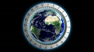 Stock Video Footage of world clock