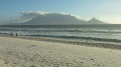 Cape town view with people Stock Footage
