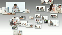 Business people stressed in Office Stock Footage