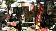 Greenmarket sqaure - bags Stock Footage