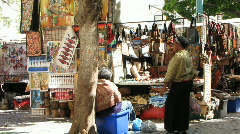 Greenmarket square- stall 2 Stock Footage
