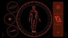 Male Scan HUD - Hi-tech 05 (HD) - stock footage