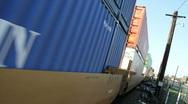 Railroad train Stock Footage