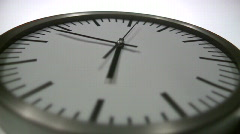 Analogue Clock Close-Up - stock footage