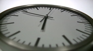 Stock Video Footage of Analogue Clock Close-Up