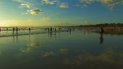 People on The Beach at Kuta Bali Sunset Travel Famous Destination Vacation Stock Footage