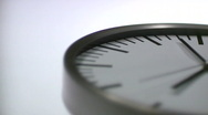 Stock Video Footage of Analogue Clock Closeup