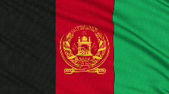 Afghanistan flag, with real structure of a fabric Stock Footage