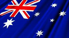 Australia Flag Loop 02 Stock Footage