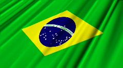 Brazil Flag Loop 02 Stock Footage