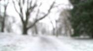 Stock Video Footage of Winter Snow Rack Focus