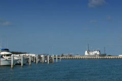 Coast Guard cruiser and watercraft in Key West harbor - stock footage