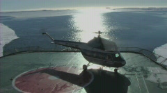 Helicopter taking off Stock Footage