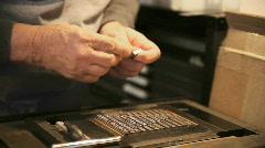 Letterpress typesetting Stock Footage