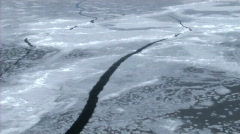 Aerial view of the sea ice on Antarctica - stock footage