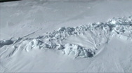 Stock Video Footage of Aerial view of the sea ice on Antarctica