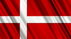 Denmark Flag Loop 01 Stock Footage
