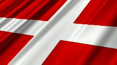 Denmark Flag Loop 02 Stock Footage