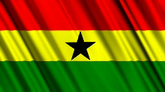 Ghana Flag Loop 01 Stock Footage