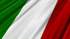 Italy Flag Loop 02 Stock Footage