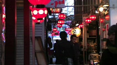 Sweet Shot of Tokyo Alley and street Market Stock Footage