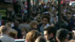 Crowded Street Stock Footage