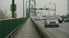 Traffic on Lions Gate bridge.  Stock Footage