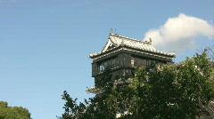 Turret of the Japanese Castle Kumamoto Stock Footage