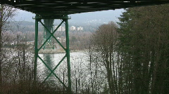 Under the bridge. Stock Footage
