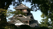 Stock Video Footage of Japanese Castle