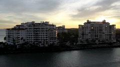 Miami at Sunset - stock footage