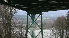Under the bridge. Stock Footage